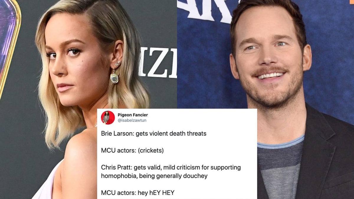 Orang-orang Bertanya Mengapa Bintang MCU Tidak Membela Brie Larson Seperti Chris Pratt