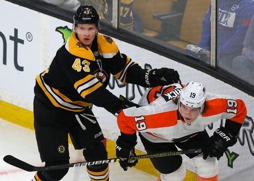 Danton Heinen kembali ke lineup Bruins vs. Rangers