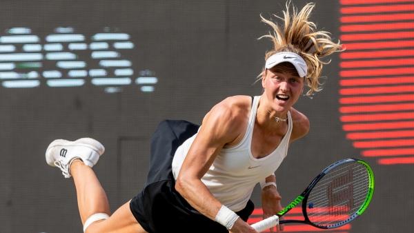 Kualifikasi Samsonova memuji perjalanan 'luar biasa' setelah memesan final Bencic di Berlin